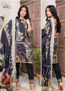 Master Fabrics Embroidered Lawn Unstitched 3 Piece Suit MF20HL 21 - Summer Collection