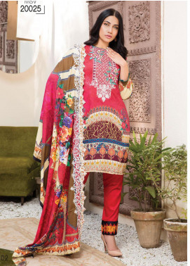 Master Fabrics Embroidered Lawn Unstitched 3 Piece Suit MF20HL 25 - Summer Collection