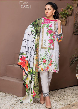 Master Fabrics Embroidered Lawn Unstitched 3 Piece Suit MF20HL 26 - Summer Collection