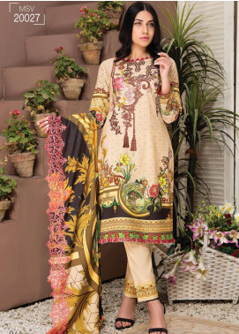 Master Fabrics Embroidered Lawn Unstitched 3 Piece Suit MF20HL 27 - Summer Collection