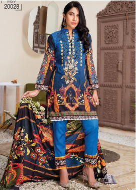 Master Fabrics Embroidered Lawn Unstitched 3 Piece Suit MF20HL 28 - Summer Collection