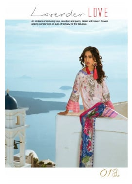 Honey Waqar By ZS Textile Embroidered Lawn Unstitched 3 Piece Suit HW17L 1A