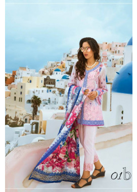 Honey Waqar By ZS Textile Embroidered Lawn Unstitched 3 Piece Suit HW17L 1B