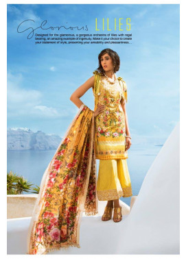 Honey Waqar By ZS Textile Embroidered Lawn Unstitched 3 Piece Suit HW17L 2B