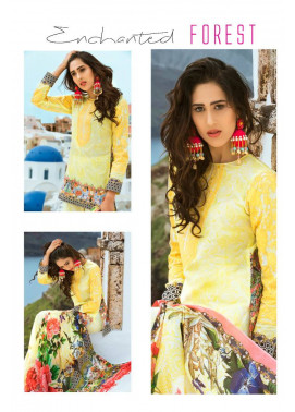 Honey Waqar By ZS Textile Embroidered Lawn Unstitched 3 Piece Suit HW17L 4B