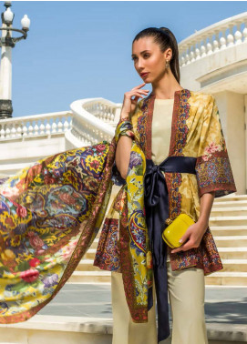 Honey Waqar Embroidered Lawn Unstitched 3 Piece Suit HW18F 2A - Eid Collection
