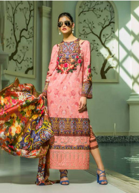 Honey Waqar Embroidered Lawn Unstitched 3 Piece Suit HW18F 2B - Eid Collection