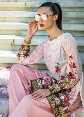Honey Waqar Embroidered Lawn Unstitched 3 Piece Suit HW18F 6A - Eid Collection