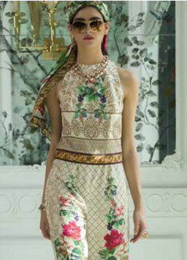 Honey Waqar Embroidered Lawn Unstitched 3 Piece Suit HW18F 7A - Eid Collection