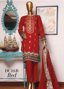 Diamond by HZ Textiles Embroidered Cambric Unstitched 3 Piece Suit HZ20-DC2 10B - Winter Collection