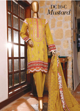 Diamond by HZ Textiles Embroidered Cambric Unstitched 3 Piece Suit HZ20-DC2 10C - Winter Collection