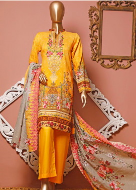 HZ Textiles Embroidered Lawn Unstitched 3 Piece Suit HZ20-D3 21 - Summer Collection