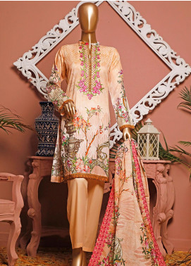 HZ Textiles Embroidered Lawn Unstitched 3 Piece Suit HZ20-D3 23 - Summer Collection