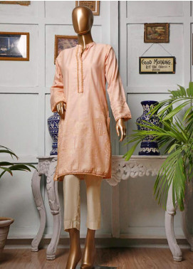 HZ Textiles Printed Jacquard Unstitched Kurties HZ20K 05-Peach - Spring / Summer Collection