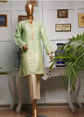 HZ Textiles Printed Jacquard Unstitched Kurties HZ20K 07-Apple Green - Spring / Summer Collection