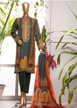 HZ Textiles Embroidered Lawn Unstitched 3 Piece Suit HZ20P 3 Green - Spring / Summer Collection