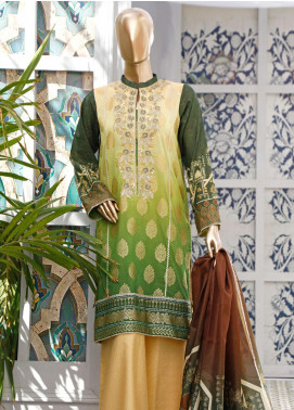 HZ Textiles Embroidered Jacquard Unstitched 3 Piece Suit HZ20FT 3 - Festive Collection
