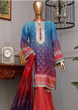 HZ Textiles Embroidered Jacquard Unstitched 3 Piece Suit HZ20FT 5 - Festive Collection