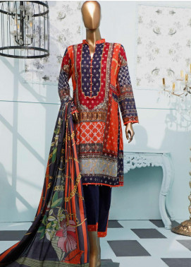HZ Textiles Printed Jacquard Unstitched 3 Piece Suit HZ20T 101 - Spring / Summer Collection