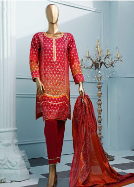 HZ Textiles Printed Jacquard Unstitched 3 Piece Suit HZ20T 102 - Spring / Summer Collection