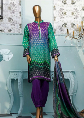 HZ Textiles Printed Jacquard Unstitched 3 Piece Suit HZ20T 103 - Spring / Summer Collection