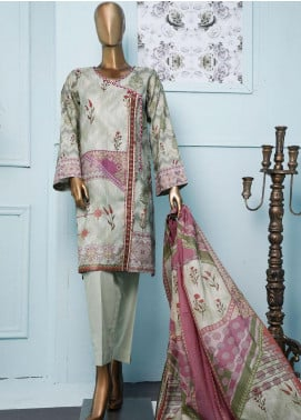HZ Textiles Printed Jacquard Unstitched 3 Piece Suit HZ20T 106 - Spring / Summer Collection