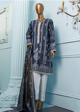 HZ Textiles Printed Jacquard Unstitched 3 Piece Suit HZ20T 108 - Spring / Summer Collection