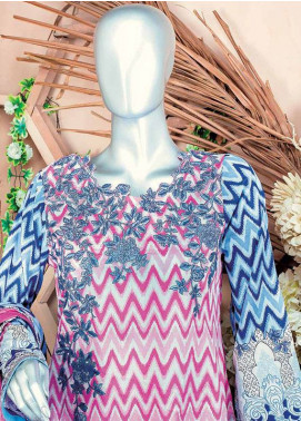 HZ Embroidered Lawn Unstitched 3 Piece Suit HZ18L 1A - Spring / Summer Collection
