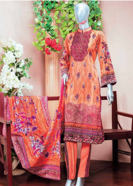 HZ Embroidered Lawn Unstitched 3 Piece Suit HZ18L 2A - Spring / Summer Collection