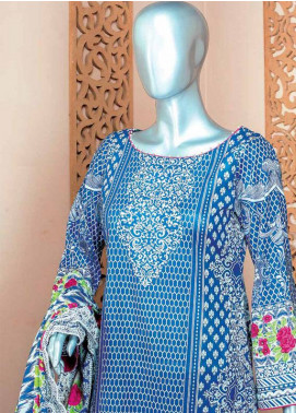 HZ Embroidered Lawn Unstitched 3 Piece Suit HZ18L 3A - Spring / Summer Collection