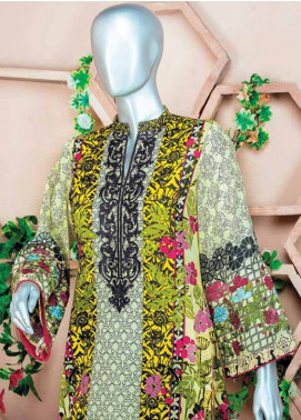 HZ Embroidered Lawn Unstitched 3 Piece Suit HZ18L 4A - Spring / Summer Collection