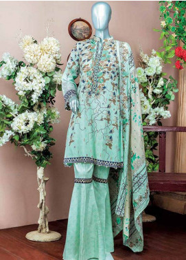 HZ Embroidered Lawn Unstitched 3 Piece Suit HZ18L 6A - Spring / Summer Collection