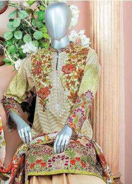 HZ Embroidered Lawn Unstitched 3 Piece Suit HZ18L 7A - Spring / Summer Collection