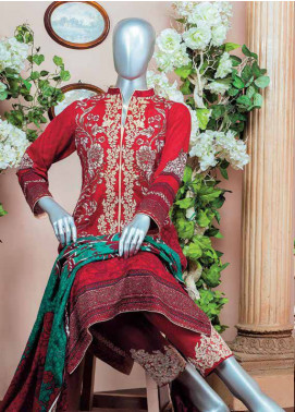 HZ Embroidered Lawn Unstitched 3 Piece Suit HZ18L 8A - Spring / Summer Collection