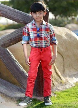 Ignite Wardrobe Cotton Chino Boys Pants -  IG20PNK 004