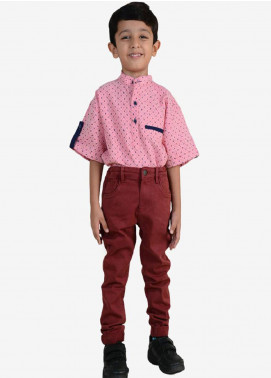 Ignite Wardrobe Cotton Casual Pants for Boys -  IG20PNK 013