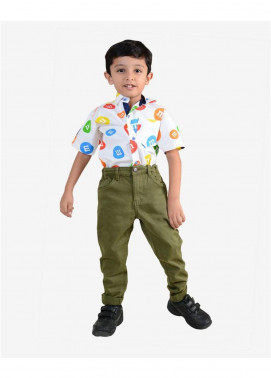 Ignite Wardrobe Cotton Casual Pants for Boys -  IG20PNK 015