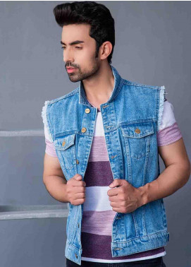 Ignite Wardrobe Denim Gilet  Men Jackets -  IG20JKM 002