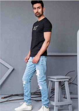 Ignite Wardrobe Cotton Distressed  Jeans for Men -  IG20JNM 013