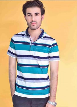 Ignite Wardrobe Cotton Striped  Men Polo Shirt -  IG20POM 010