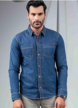 Ignite Wardrobe Cotton Denim  Shirts for Men -  IG20SHM 011