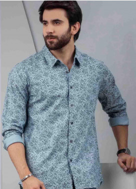 Ignite Wardrobe Cotton Floret Print Button Up Shirts for Men -  IG20SHM 015