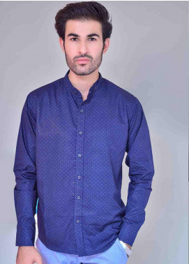Ignite Wardrobe Cotton Three Dot Ben Collar Shirts for Men -  IG20SHM 017