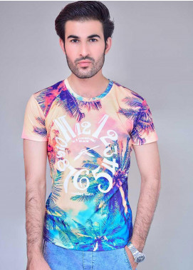 Ignite Wardrobe Polyester Round Neck Half Sleeves T-Shirts for Men -  IG20TSM 001