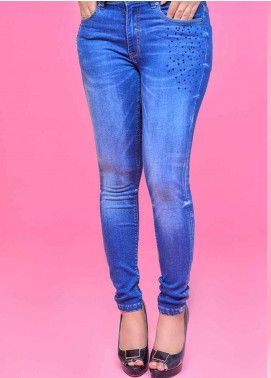 Ignite Wardrobe Embellished Super Soft Denim Skinny Jeans IG20JNW 003