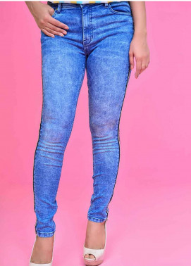 Ignite Wardrobe Embellished Tape Super Stretch Denim Skinny Jeans IG20JNW 004