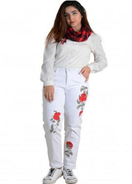 Ignite Wardrobe Embroidered Cotton Pants IG20PNW 001