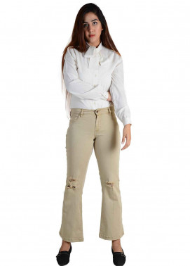 Ignite Wardrobe Stretchable Cotton Boot Cut Pants IG20PNW 008