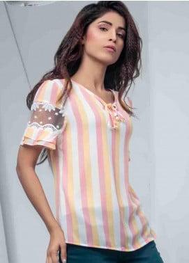 Ignite Wardrobe Stripe Synthetic Top IG20TOW 048