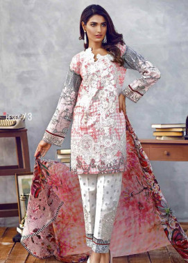 Imperial Textile Embroidered Lawn Unstitched 3 Piece Suit IM17E2 03